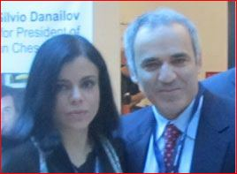 Merlina con Kasparov