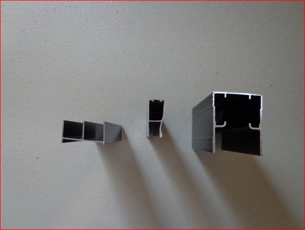 elaboración de un cancel de aluminio para baño con una hoja fija y ... - Perfiles De Aluminio Para Puertas De Bano
