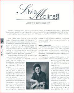 Entrevista a Silvia Molina, por Dolores Calbonell.