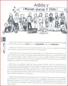 La despedida del equipo de la Revista.