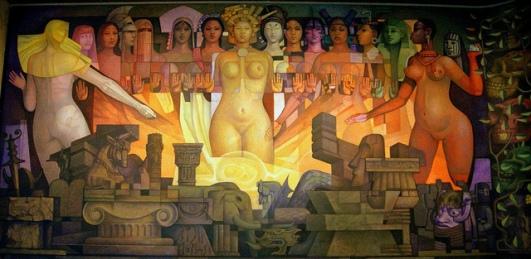 Pintura Mural: Las razas y la cultura.