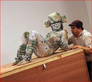 Chac mool, obra de teatro, foto: al calor político.