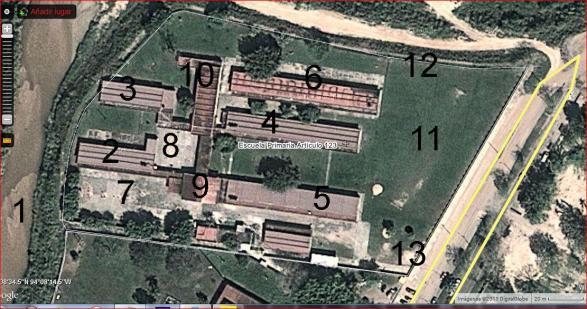 Escuela Primaria Art. 123 Benito Juárez García, en Agua Dulce, Ver.