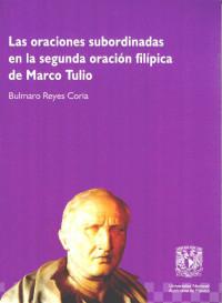 Las oraciones subordinadas, en la segunda filípica de Marco Tulio.
